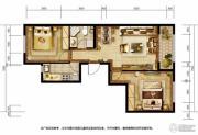 胜古誉园2室2厅1卫85平方米户型图