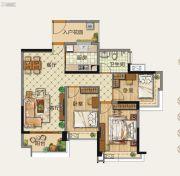 雅居乐森岚3室2厅1卫0平方米户型图