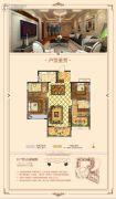 华天首府3室2厅2卫114平方米户型图