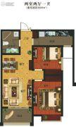 义乌城2室2厅1卫89平方米户型图