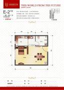 瀚城国际二期1室1厅1卫57平方米户型图