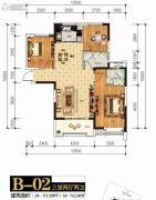 统建新干线3室2厅2卫112平方米户型图