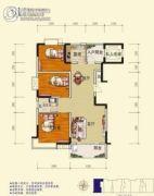 旺佳・华府3室2厅1卫119平方米户型图