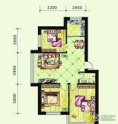 恩德花园3室2厅1卫94平方米户型图