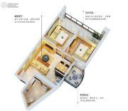 五经・山水大观2室2厅1卫64平方米户型图