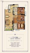 广州融创万达文化旅游城3室2厅2卫99平方米户型图