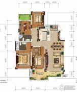 城投地产・智禧湾5室2厅3卫200平方米户型图