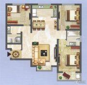 中央名都3室2厅2卫116平方米户型图