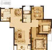 宝华北岸郡庭3室2厅1卫92平方米户型图