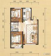 国茂清华园2室2厅1卫81平方米户型图