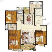 腾飞鹿鸣湖畔3室2厅2卫142平方米户型图