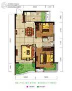 旺德府恺悦国际2室2厅1卫79平方米户型图
