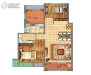 万达广场2室2厅1卫98平方米户型图