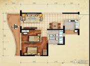 美鳌城2室2厅1卫102平方米户型图