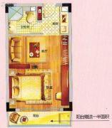 紫晶国际广场1室1厅1卫41平方米户型图