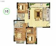 东郡华庭3室1厅2卫118平方米户型图