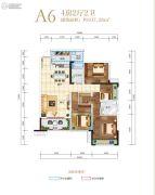 长虹天樾4室2厅2卫107平方米户型图