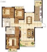 恒大悦龙台3室2厅2卫0平方米户型图