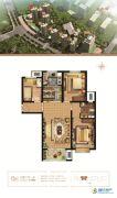 万和城3室2厅1卫116平方米户型图