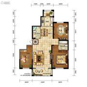 五矿・弘园3室2厅2卫139平方米户型图