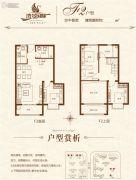 湾景国际3室2厅2卫126平方米户型图
