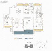 复地东湖国际4室2厅2卫170平方米户型图