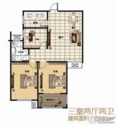 建源・香山甲第3室2厅2卫111平方米户型图