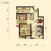 保利香槟国际2室2厅1卫74平方米户型图