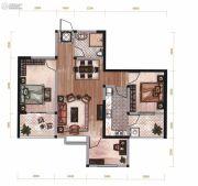 昆明广场3室2厅1卫86平方米户型图