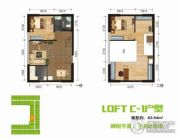 BOBO悠乐城0室0厅0卫63平方米户型图