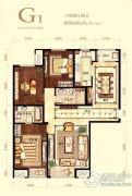 首开・璞�v公馆3室2厅2卫138平方米户型图