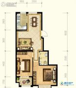 观海御景2室2厅1卫0平方米户型图