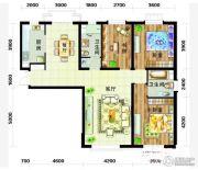 天庆国际新城3室2厅2卫138平方米户型图