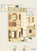 东郦湖2室2厅1卫97平方米户型图