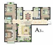 丽晶名邸3室2厅2卫118平方米户型图