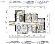 沙田碧桂园4室2厅2卫0平方米户型图