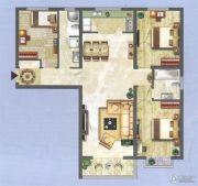 中央名都3室2厅2卫135平方米户型图