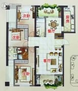 百宏香榭丽�Z3室2厅2卫0平方米户型图