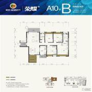 美的林城时代4室2厅2卫0平方米户型图