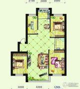 恩德花园4室2厅1卫124平方米户型图