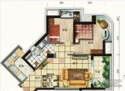 碧桂园・滨海城2室2厅1卫69平方米户型图