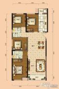南宁安吉万达广场4室2厅2卫115平方米户型图