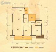 南宁江南万达广场2室2厅2卫100平方米户型图