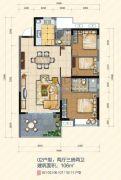 大悦花园3室2厅2卫106平方米户型图