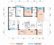 云鼎・天阙3室2厅2卫107--125平方米户型图