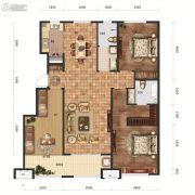 保利中心3室2厅2卫140平方米户型图