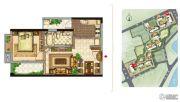 美景嘉园1室2厅1卫59平方米户型图