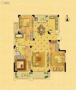 中南锦苑3室2厅2卫128平方米户型图