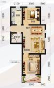 唐轩北廷2室2厅1卫73平方米户型图