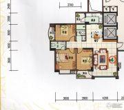 府前雅居苑3室2厅2卫118平方米户型图